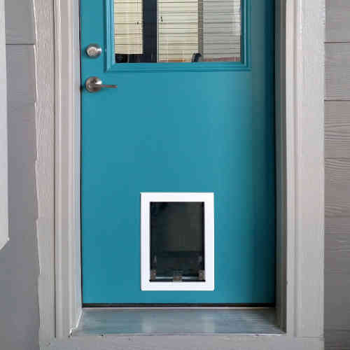 Pet door in a door & Sliding glass patio dog doors in Denver and the front range. The ...