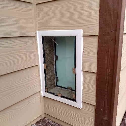 Dog door through wall & Sliding glass patio dog doors in Denver and the front range. The ...