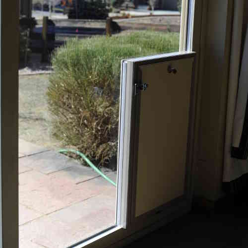 dog door sliding glass